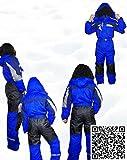 Moderei Auswahl an Schneeanzug | Schneeoverall Skianzug | Skioverall Snowboard Unisex | Jungen | Mädchen | Herren | Damen Schneeanzug Hauptfarbe-Blau (Blau, 152) …