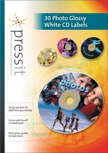 Noname Etichette per CD, Confenzione da 30, (Getto D'inchiostro Bianco Cd Dvd Etichette)