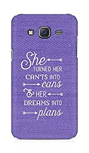 AMEZ cants into cans dreams into plans Back Cover For Samsung Galaxy J5