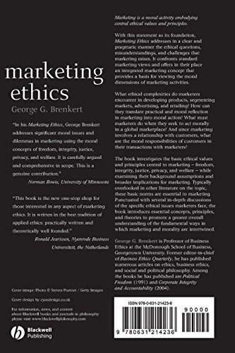 Marketing Ethics (Foundations of Business Ethics)
