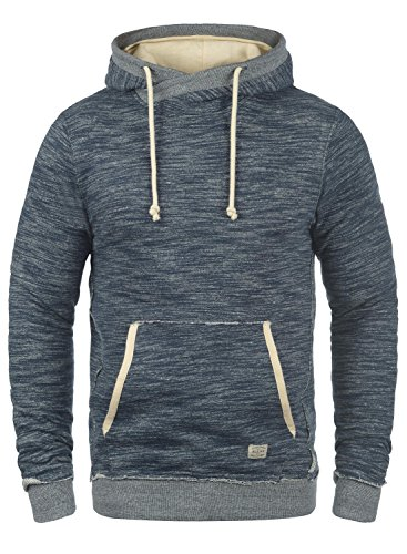 BLEND Clive Herren Kapuzenpullover Hoodie Sweatshirt aus 100% Baumwolle Meliert Navy (70230)
