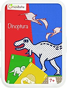 Decopatch-CO107O-Avenue Mandarine Dinoptura-Juegos de Cartas