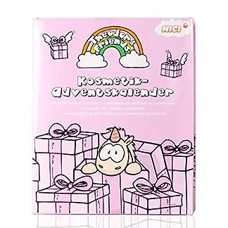 accentra Unicornio Calendario de Adviento con Süße Unicornio objetos/Maquillaje como Lippenstift, Bálsamo de labios, uñas perlas uvm/TOP regalo Idea para adolescente niña
