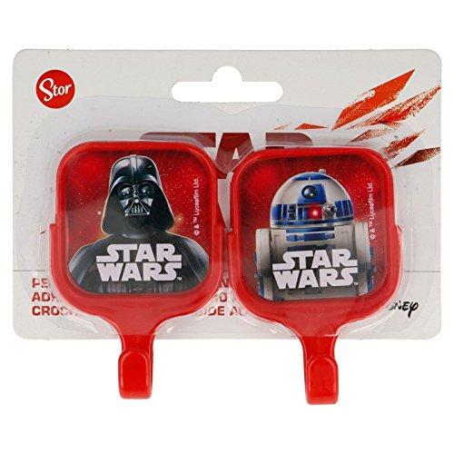 Set 2 unités. Cintres adhésives en plastique carrées 13.4 * cm Star Wars