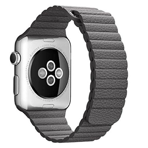 Ouneed For Apple Watch 42mm Cuero Genuino Loop Tipo