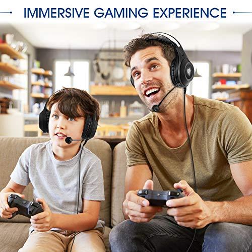 ELEGIANT Gaming Headset ps4, Gaming Kopfhörer Noise Cancelling Headphones Bügelkopfhörer mit Reiner Tonqualität Mikrofon 3,5mm Klinke für PS4 Pro/PS4 Xbox One PC Laptop Tablet Mac - 5