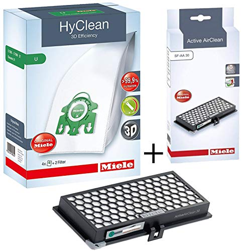 Original Miele sf-aa30Active AirClean Filter + U Staubbeutel für S7260S7280S7510S7580Staubsauger