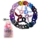 Scrunchies for Hair (12 Pieces) - Premium Velvet Scrunchie Elastic Hair Ties Pack for Women and Girls - Perfect Womens Scrunchy Gift Set and Great Travel Accessories
