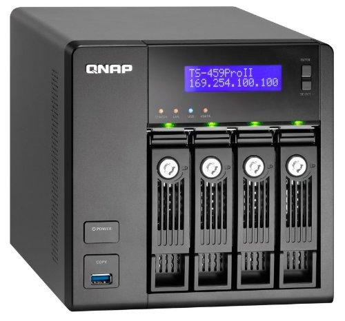 Qnap TS-459 Pro II NAS-System (8,9 cm (3,5 Zoll), 4-Bay Diskless, 1,8 GHz, SATA, USB 3.0)