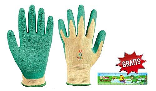 Junior Arbeitshandschuhe für Kinder JO-JO-4 KIDS 5-7 und 8-11 Jahre + GRATIS, Schutzhandschuhe , Kinder Gartenhandschuhe, Arbeits Garten Handschuhe (1, 8-11 years)