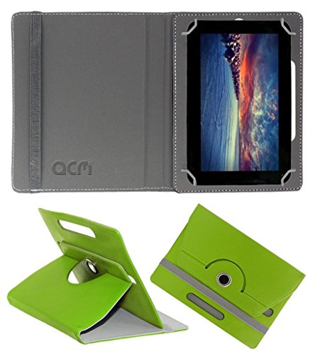 Acm Rotating 360° Leather Flip Case for Zync Dual 7i Cover Stand Green  available at amazon for Rs.149