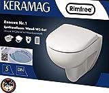 Keramag Renova Nr.1 Spülrandloses Wand-WC Set *Original* Softclose Schallschutz