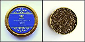 10 gr Freshwater Beluga Hyb. Caviar.Our most popular product.FREE Delivery on orders over £30