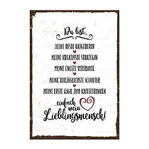 Holzschild mit Spruch – DU BIST MEIN LIEBLINGSMENSCH
