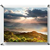 [Sponsored]Paper Plane Design Acrylic Floating Frame With Silver Hardware For Art & Photos Double Panel (11 In X 17 In) ( Frame_Wood_New_144_3 )