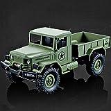 ES-TOYS RC Militär Truck 1:16 mit 2,4Ghz, Allradantrieb von Heng Long - Neuheit (Grün)