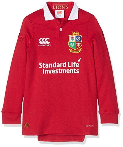 Canterbury British und Irish Lions Kids VapoDri Spiel-Trikot, Langarm, Jersey 14 Jahre Rot - Tango Red