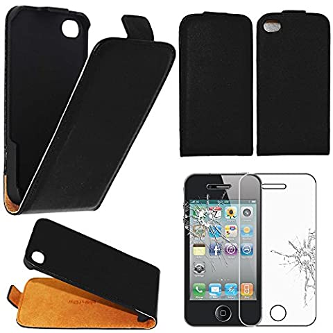 Coque Iphone 4 Cuir - ebestStar - pour Apple iPhone 4S, 4