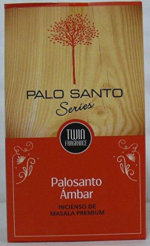Sri Durga Palo Santo Ambar - Incienso (PaloSanto Amber), 12 paquetes de 15 gramos c/u