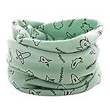 Tangbasi® Cartoon aereo Baby ragazze dei loop sciarpa scaldacollo, scialle bambini o anello sciarpa al collo verde Green taglia unica