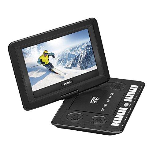 VBESTLIFE Tragbarer 13,9-Zoll-DVD-MP3-Player, CD-Videoplayer mit wiederaufladbarem Akku, einstellbarem HD-LCD-Bildschirm mit Schwenkwinkel, USB/SD-Karte mit Fernbedienung für das Auto(schwarz)