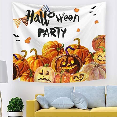 Zrscl arazzo semplice in stoffa di halloween con sfondo di vento per un elegante tessuto decorativo minimalista f 150 * 130cm