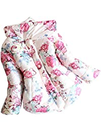 Amurleopard manteau fille hiver coton fleur imprime