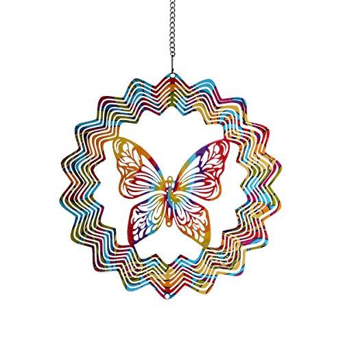 3D-Metall-Windspiel für den Garten, zum Aufhängen von Fenstern, mehrfarbig Colorful Butterfly Style -