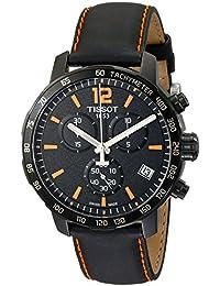 Tissot T0954173605700 Men's Quickster Chronograph Analog-Display Swiss Quartz Black Watch