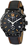 Tissot T0954173605700 Men's Quickster Chronograph Analog-Display Swiss Quartz Black Watch