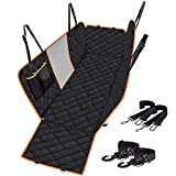 CLEEBOURG Dog Car Seat Cover Durable Scratchproof Waterproof Car Back Seat Cover