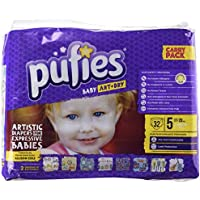 Pufies Baby Art Dry Let`S Go - 64 Pañales, talla 5, 11-20 kg