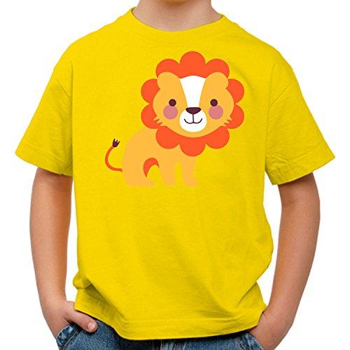 Raxxpurl Süßer Löwe Fun Kinder T-Shirt_gelb_110/116 (Gelb Farm T-shirt)