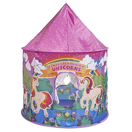 Glittles Unicornio Juguetes Kids Play Tienda de la casa fácil de Montar Playhouse con la Caja Rosada del Viaje; Wendy Casas para Niños, se Ajusta a 2-3 Little Kids
