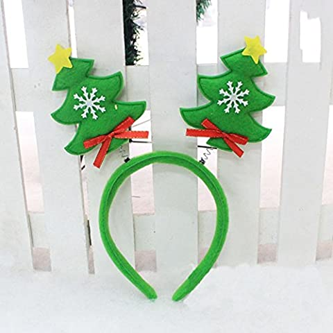 LanLan Christmas Party Supplies Headband Hair Hoop Head Buckle Toys Party Prop Merry Christmas Gifts For Child Green