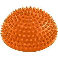 Bola de equilibrio »Igel«, para mejorar el equilibrio y la coordinación. Ideal para entrenar el equilibrio, 320 g, aprox. 8 cm de altura y 16 cm de diámetro / naranja