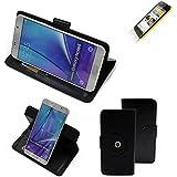 360° Funda Smartphone para Wiko Birdy 4G, negro   Función de stand Caso Monedero BookStyle mejor precio, mejor funcionamiento - K-S-Trade