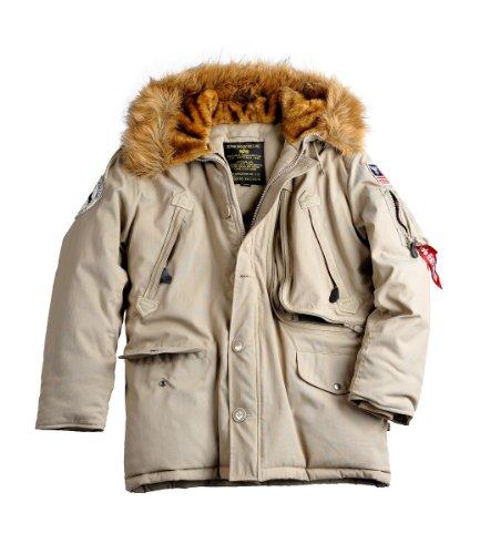 Alpha Polar Jacket, Parka Homme Kaki