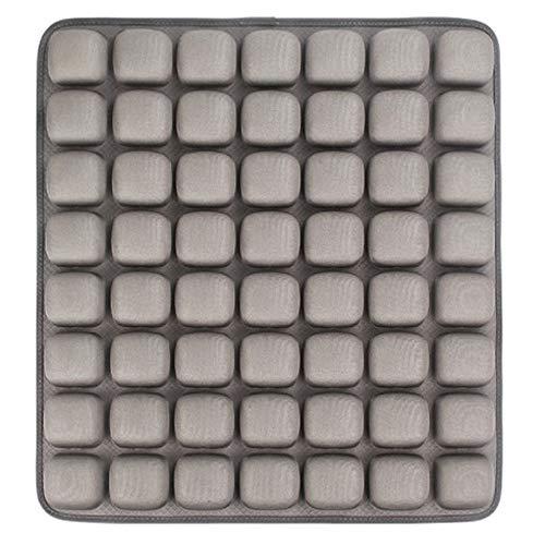 Dicke Liege Relaxsitzbezug Luftkissen 3D Stereo Airbag Dekompression Massagekissen Gesundheit Auto Bürostuhl Kissen Grau 45 cm x 40 cm