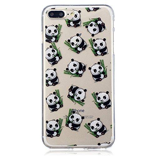iPhone 7 Plus Hülle, Voguecase Silikon Schutzhülle / Case / Cover / Hülle / TPU Gel Skin für Apple iPhone 7 Plus/iPhone 8 Plus 5.5(Schwarze Katze 08) + Gratis Universal Eingabestift Katzenbär 06