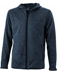 James & Nicholson Damen Sweatshirt Kapuzenjacke Ladies' Knitted Fleece Sweatshirt Hooded