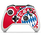 DeinDesign Skin Aufkleber Sticker Folie für Microsoft Xbox One S FCB Fanartikel Merchandise FC Bayern München