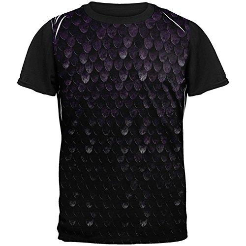 Halloween Dunkelelf Schatten Skala Rüstung aller Mens Black Back T Shirt Multicoloured