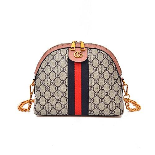 Shell Pack Print Frauen Frühling Sommer Neue Schulter Messenger Korean Fashion Joker Mini Bag,Pink-OneSize
