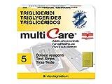 Multicare 23959 Strip Trigliceridi, 1 Chip, Confezione da 5