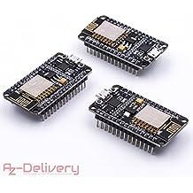 AZDelivery NodeMCU Lua Amica Module V2 ESP8266 ESP-12E WIFI Wifi Development Board mit CP2102 und gratis eBook! (3x NodeMCU Amica V2)