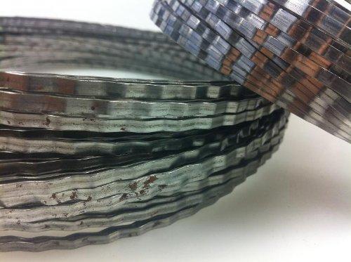50 Stück Adventringe, Drahtring, Bindering, gewellt 25 cm, Eisen 3 mm breit, 1 mm stark -