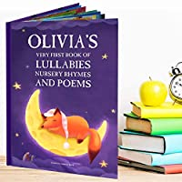 Nursery Rhymes and Personalised Lullabies Book For Newborns, Toddlers and Baby. Custom Name Book for Children's Birthdays, Special Occasions, Bedtime Story, Ages 0-4 Years. Lullaby Poems for Kids