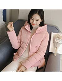 K-youth® Mujer Chaqueta Con Capucha Abrigo de Invierno Cremallera Acolchado manga larga para mujer