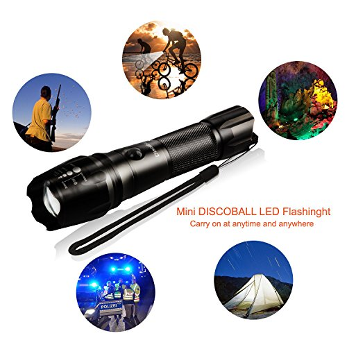 Discoball-Rechargeable-Torch-LED-Zoomable-Flashlight-Torch-1x18650-Battery-Charger-Energy-Class-A